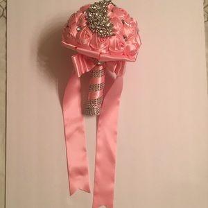 Pink rhinestone brooch bouquet